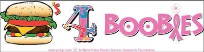 Burgers for Boobies Bumper Sticker