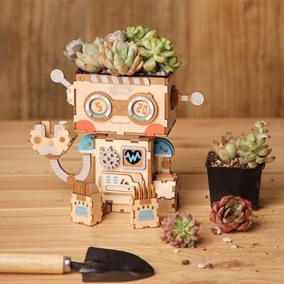 Сборная модель Robotime конструктор FT761 Цветочный горшок Робот