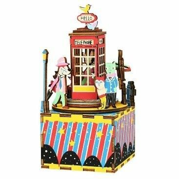Деревянный конструктор (ТМ Цветной) AM401 Телефонная будка