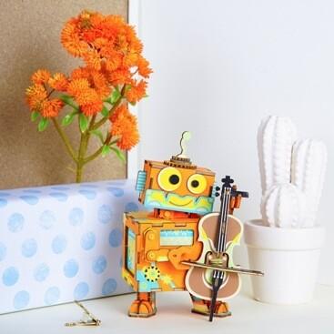 Деревянный конструктор (ТМ Цветной) AMD53 Маленький музыкант