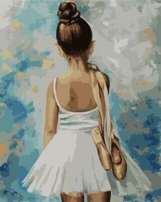 Картина по номерам (40х50см) MG2054 Маленькая балерина
