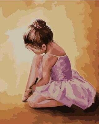 Картина по номерам (40х50см) Цветной MG2055 Балерина малышка