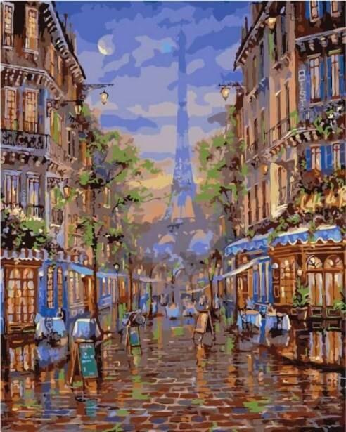 Картина по номерам (40х50см) Цветной MG2095 Монмартр Париж