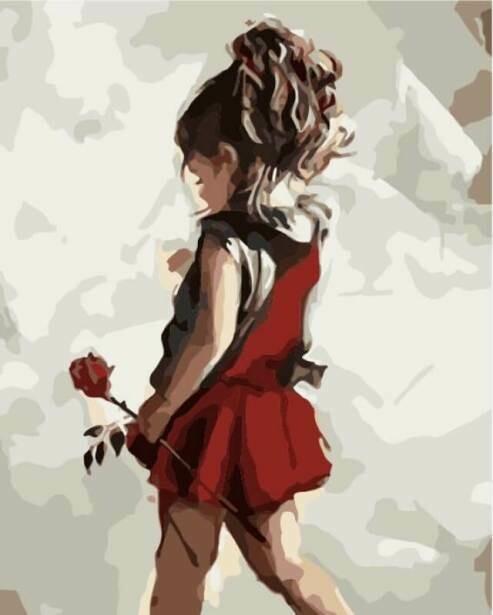 Картина по номерам (40х50см) Цветной MG2089 Юная леди