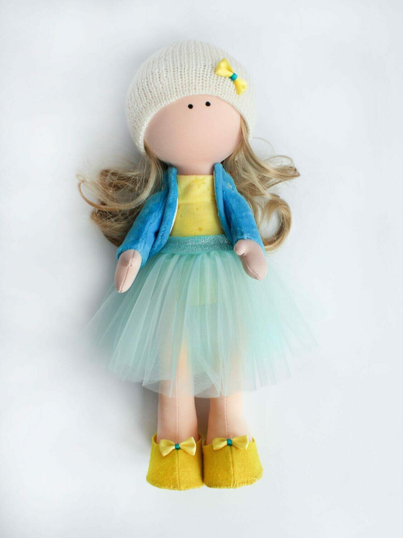 Набор ТМ Цветной для изготовления текстильной игрушки DI045 Кукла Эмма (35см)