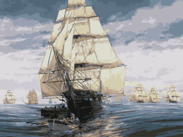 Картина по номерам (30х40см) Цветной EX5836 Флотилия