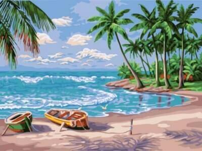 Картина по номерам (30х40см) Цветной EX5884 Лазурный берег