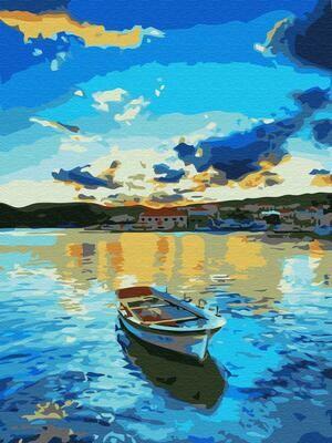 Картина по номерам (30х40см) Цветной EX5984 Голубой закат