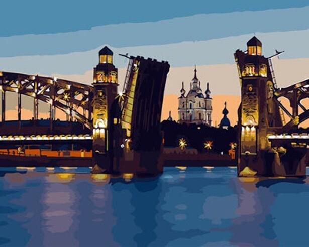 Картина по номерам ТМ Цветной GX29480 Разводной мост