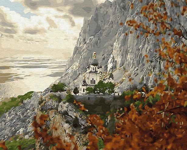 Картина по номерам (40х50см) Цветной GX28913 Храм на горе