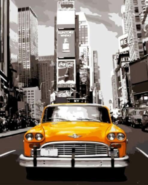 Картина по номерам ТМ Цветной GX8241 Нью-Йоркское такси