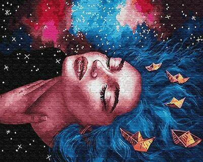 Картина по номерам (40х50см) Цветной GX26074 Мысли и мечты
