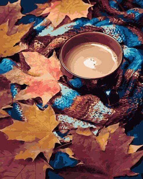 Картина по номерам (40х50см) Цветной GX29417 Натюрморт с листьями