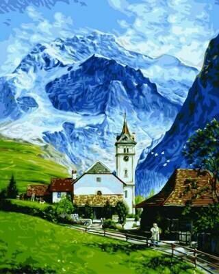 Картина по номерам (40х50см) Цветной GX9861 Гриндельвальд