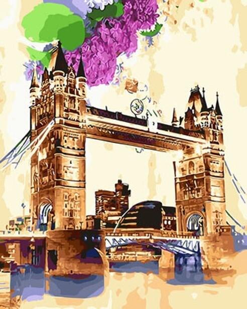 Картина по номерам (40х50см) Цветной GX29116 Акварельный мост