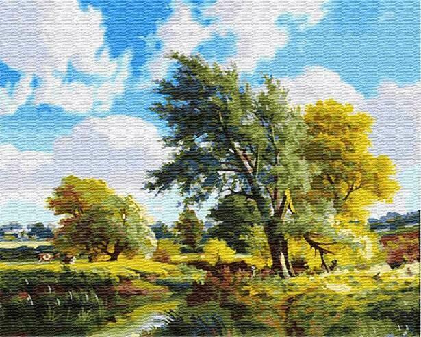 Картина по номерам (40х50см) Цветной GX23474 Солнечный пейзаж