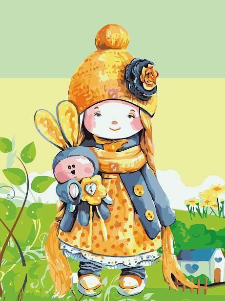 Картина по номерам (30х40см) Цветной ME1107 Куколка