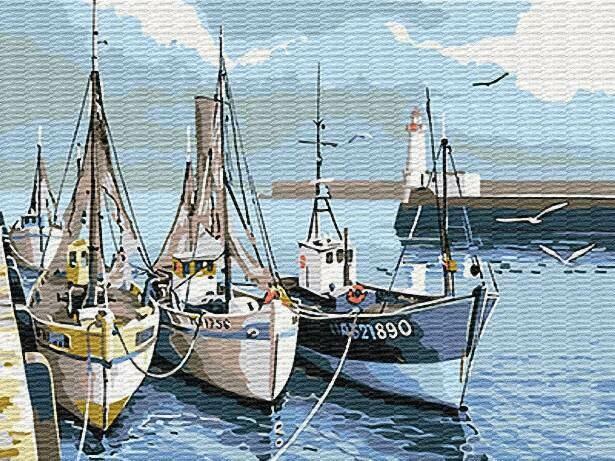 Картина по номерам (30х40см) Цветной EX6080 Водный транспорт