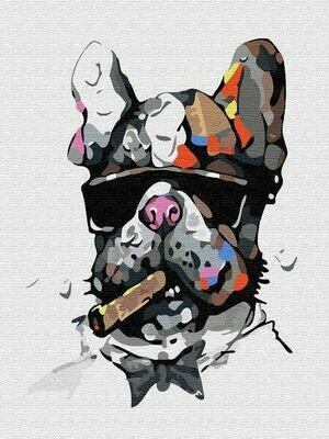 Картина по номерам (30х40см) Цветной EX5322 Брутальный пес