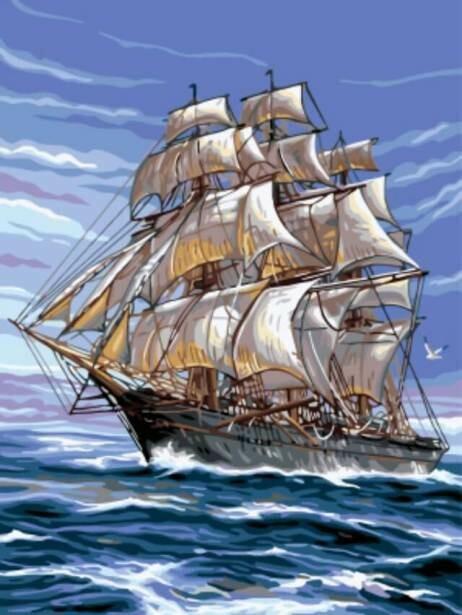 Картина по номерам (30х40см) Цветной EX5292 На всех парусах