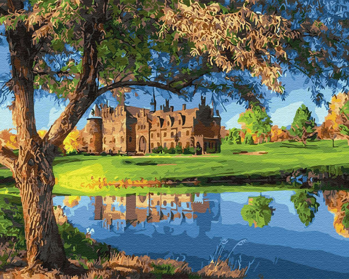 Картина по номерам (40х50см) Цветной GX31633 Замок у озера