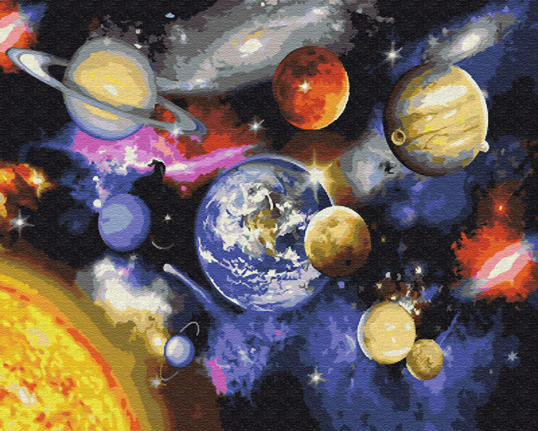 Картина по номерам (40х50см) Цветной GX22268 Парад планет
