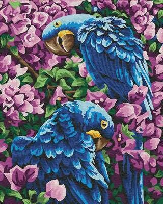 Картина по номерам (40х50см) Цветной GX22309 Гиацинтовые ара