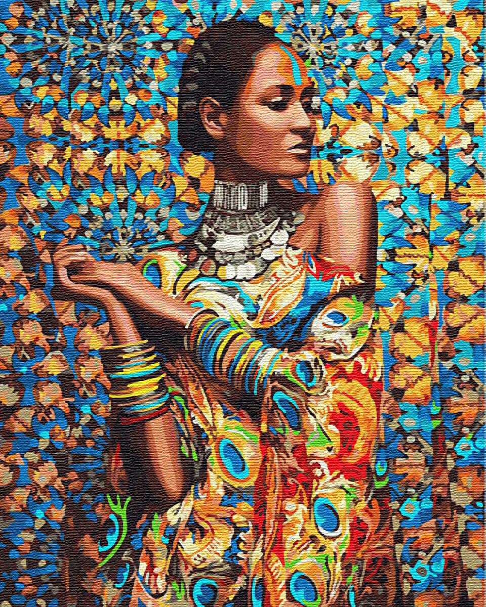 Картина по номерам (40х50см) Цветной GX23464 Принцесса Зимбабве