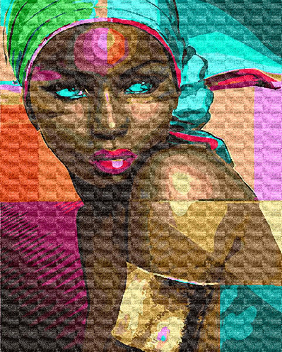 Картина по номерам (40х50см) Цветной GX24285 Африканка