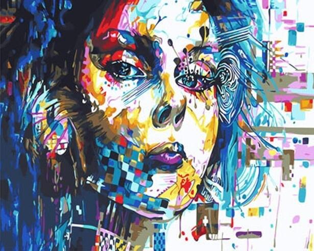 Картина по номерам (40х50см) Цветной GX29766 Девушка абстракция