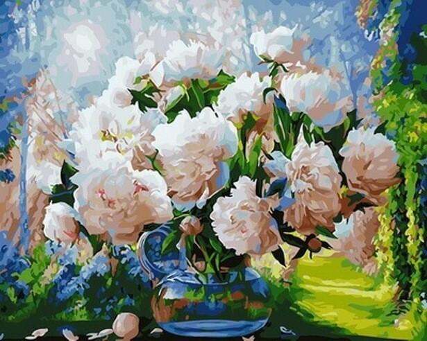 Картина по номерам (40х50см) Цветной GX29949 Восхитительные пионы