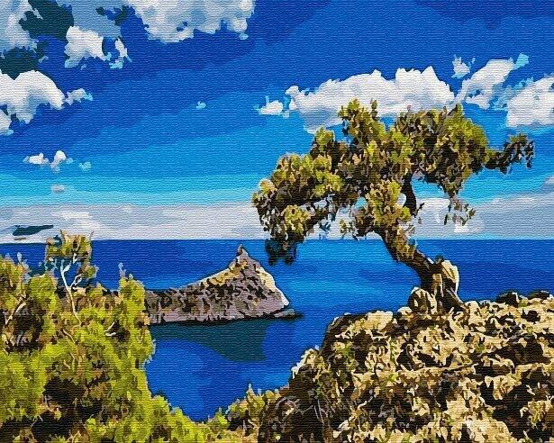 Картина по номерам (40х50см) Цветной GX30162 Дерево на горе