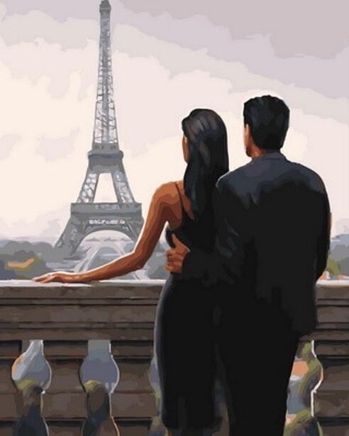 Картина по номерам (40х50см) Цветной GX30669 Свидание в Париже