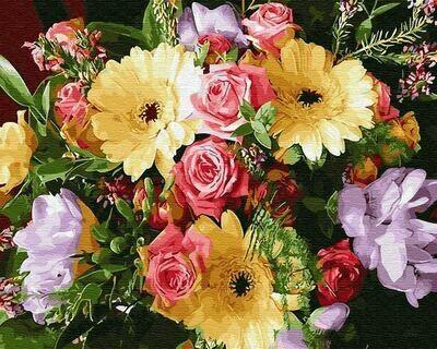 Картина по номерам (40х50см) Цветной GX31134 Герберы и розы