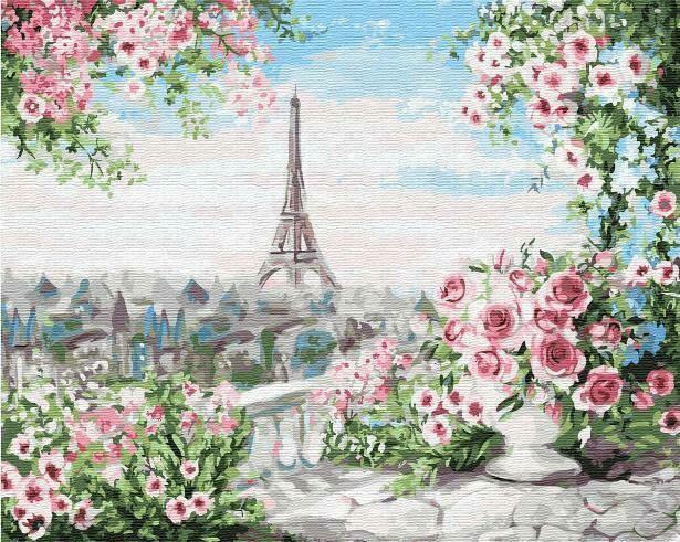 Картина по номерам (40х50см) Цветной GX31675 Романтичный вид из окна