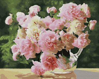 Картина по номерам (40х50см) Цветной GX28834 Садовые пионы