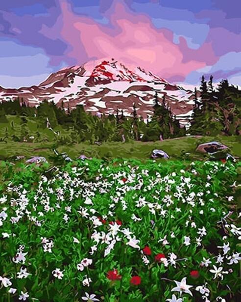 Картина по номерам (40х50см) Цветной GX29236 Алтайский пейзаж