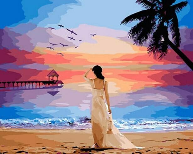 Картина по номерам (40х50см) Цветной GX29454 Остров мечты