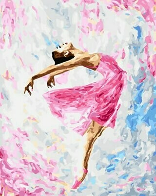 Картина по номерам (40х50см) Цветной GX29767 Танцующая балерина
