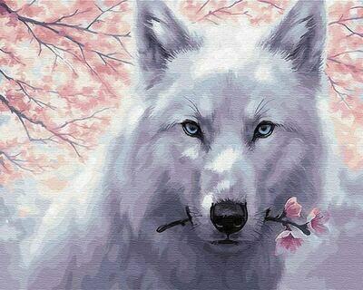 Картина по номерам (40х50см) Цветной GX29952 Белый волк