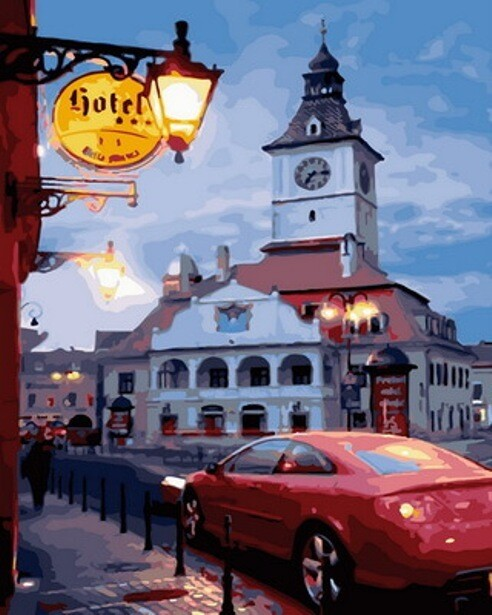 Картина по номерам (40х50см) Цветной GX30888 Старый город