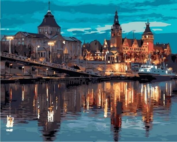 Картина по номерам (40х50см) Цветной GX31571 Европейский город