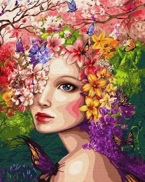 Картина по номерам (40х50см) Цветной GX31965 Весенняя фея