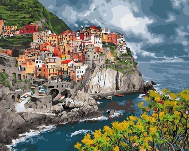 Картина по номерам (40х50см) Цветной GX29397 Итальянское побережье