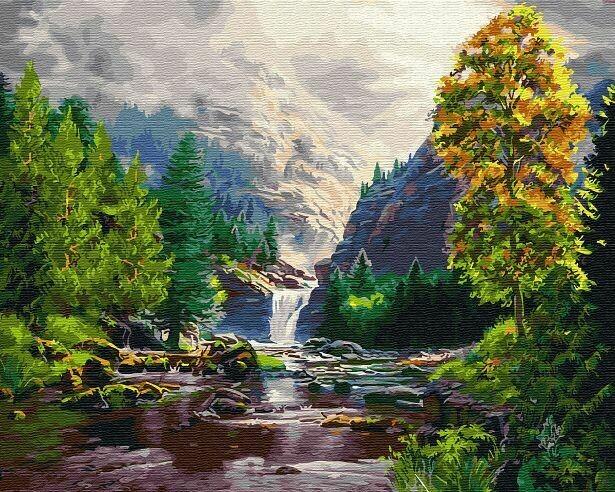 Картина по номерам (40х50см) Цветной GX29439 Осень в горах