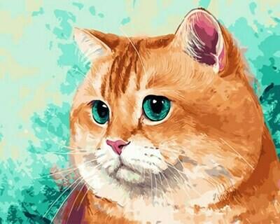 Картина по номерам (40х50см) Цветной GX29469 Упитанный кот