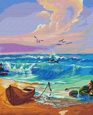 Картина по номерам (40х50см) Цветной GX8335 Утро на море