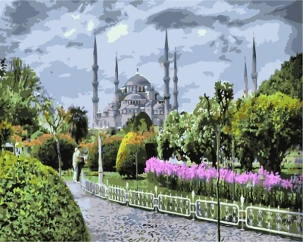 Картина по номерам (40х50см) Цветной GX7826 Голубая мечеть