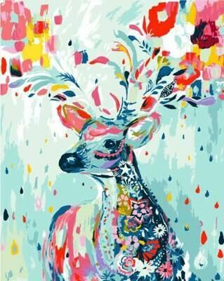 Картина по номерам (40х50см) Цветной MG592 Олень