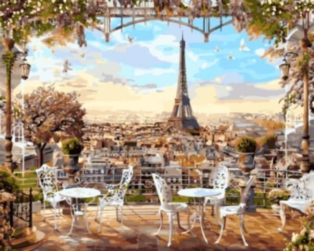 Картина по номерам (40х50см) Цветной GX8876 Парижская терраса